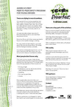 image of Teens in the Driver Seat® factsheet